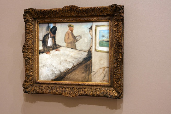 Installation view of Edgar Degas. 'Cotton merchants in New Orleans' 1873