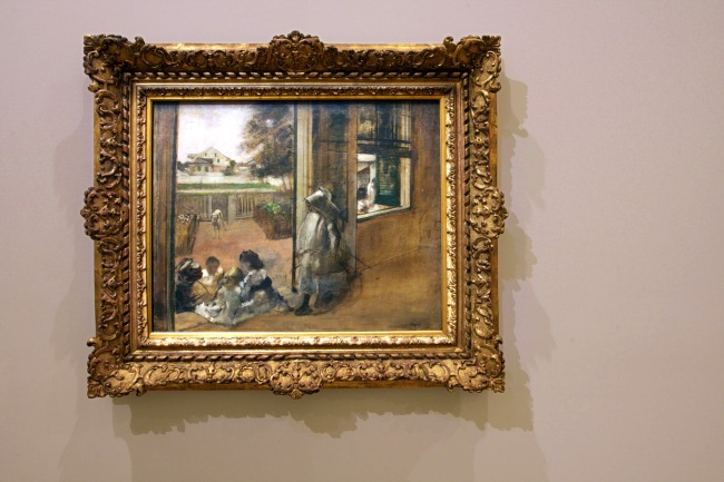 Installation view of Edgar Degas. 'Courtyard of a house (New Orleans, sketch) 1873