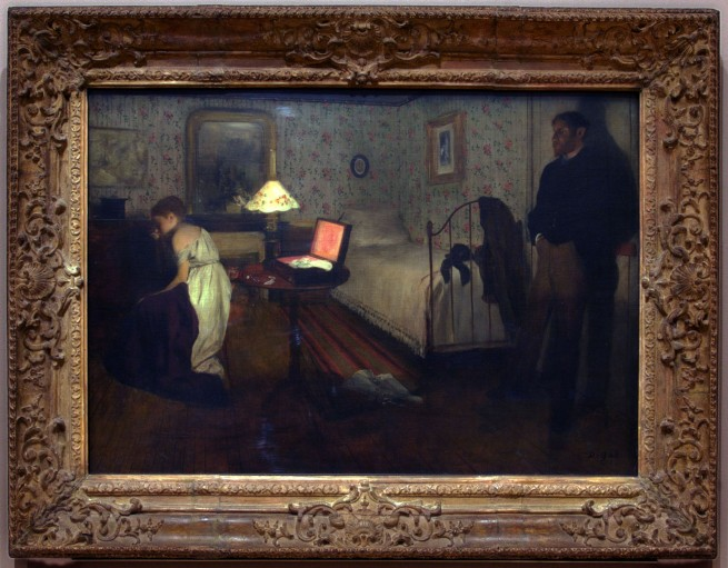 Edgar Degas Interior c. 1868-69 (installation view)