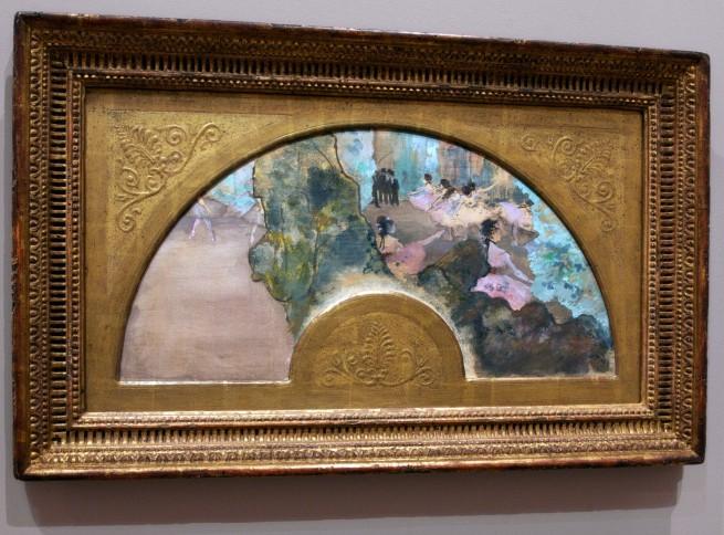 Edgar Degas. 'Danseuses, éventail [Dancers (Fan, design)]' (installation view) 1879