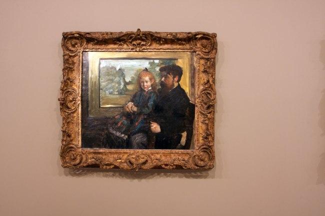 Edgar Degas. 'Henri Rouart and his daughter Hélène' 1871–72