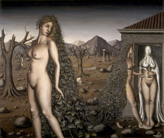 Paul Delvaux (1897-1994) 'L'Appel de la Nuit (The Call of the Night)' 1938