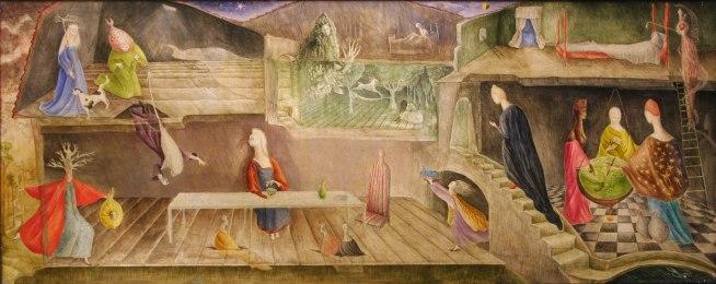 Leonora Carrington (1917-2011) 'The House Opposite' 1945