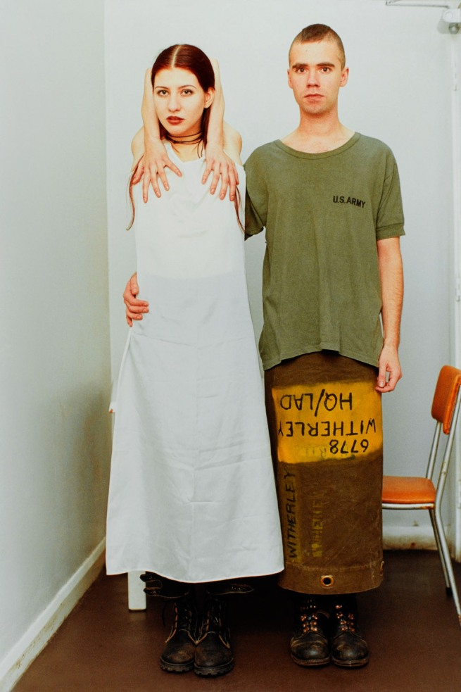 Wolfgang Tillmans. 'Suzanne & Lutz, white dress, army skirt' 1993