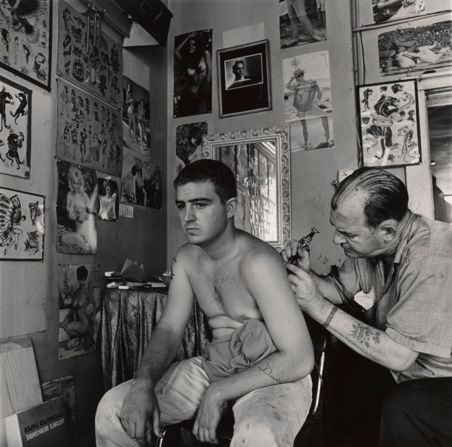 Danny Lyon. 'Bill Sanders, Tattoo Artist, Houston, Texas' 1968