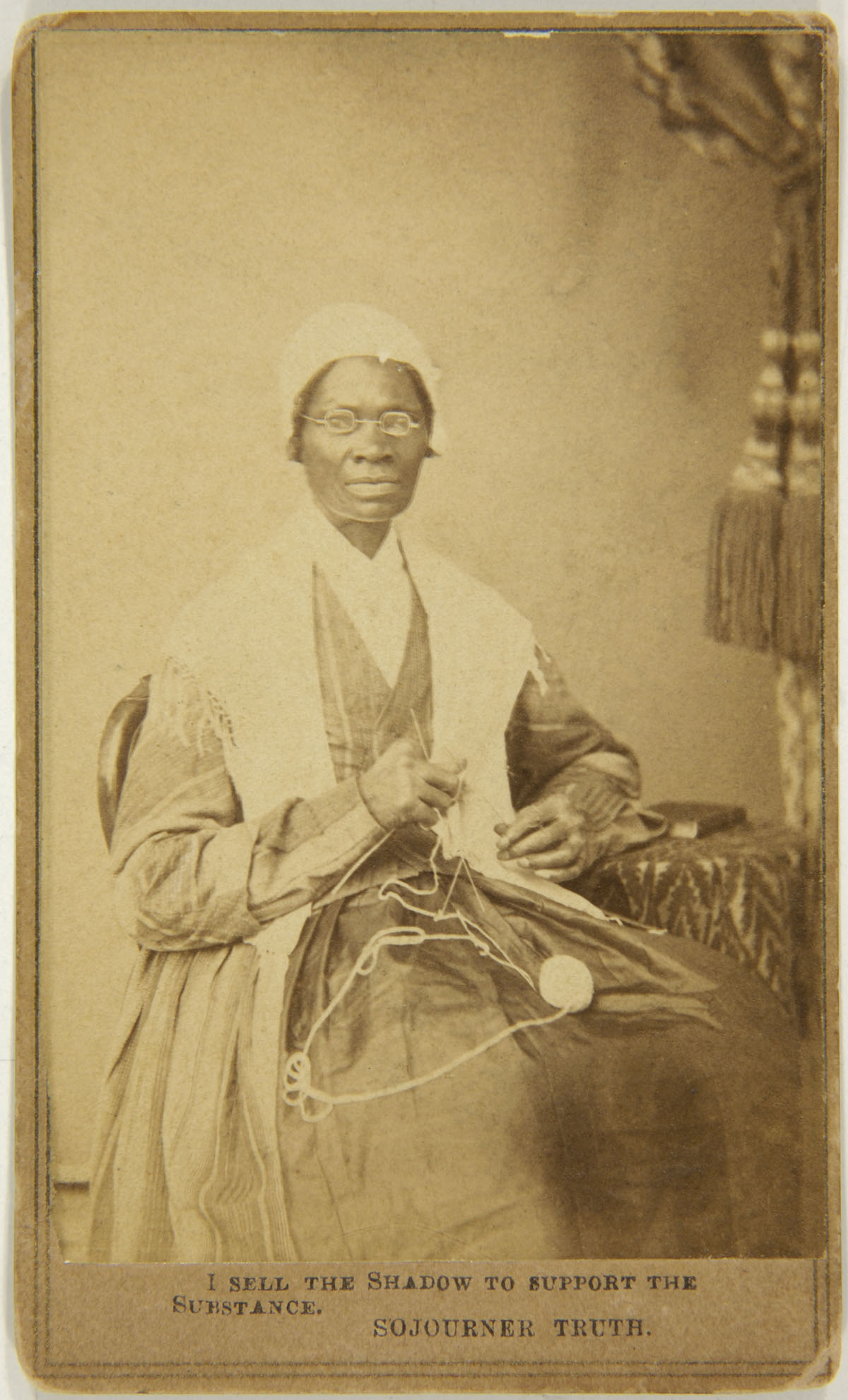 Captioned Carte De Visite Of Sojourner Truth Front 1864