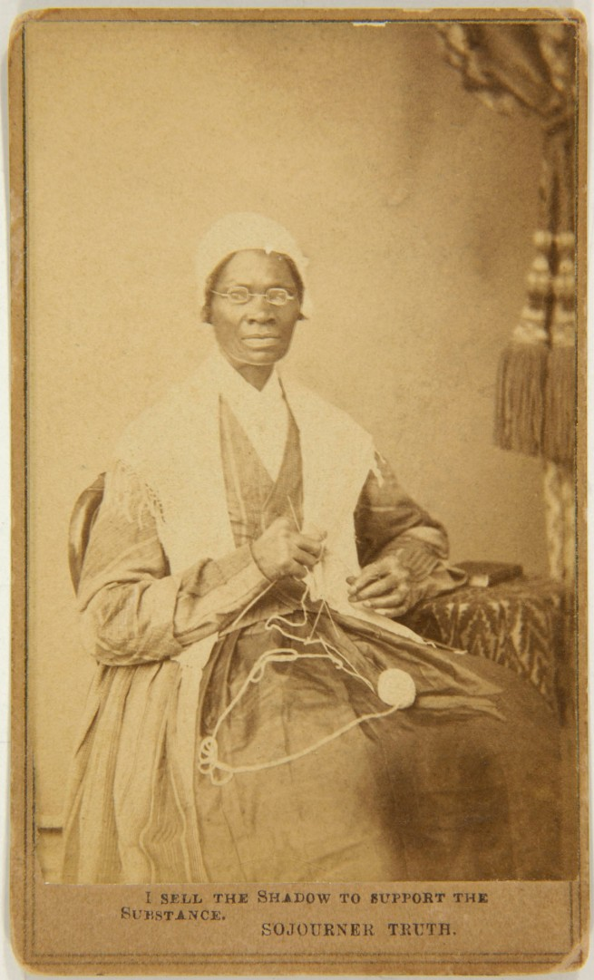 Unknown photographer. 'Captioned carte de visite of Sojourner Truth' (front) 1864