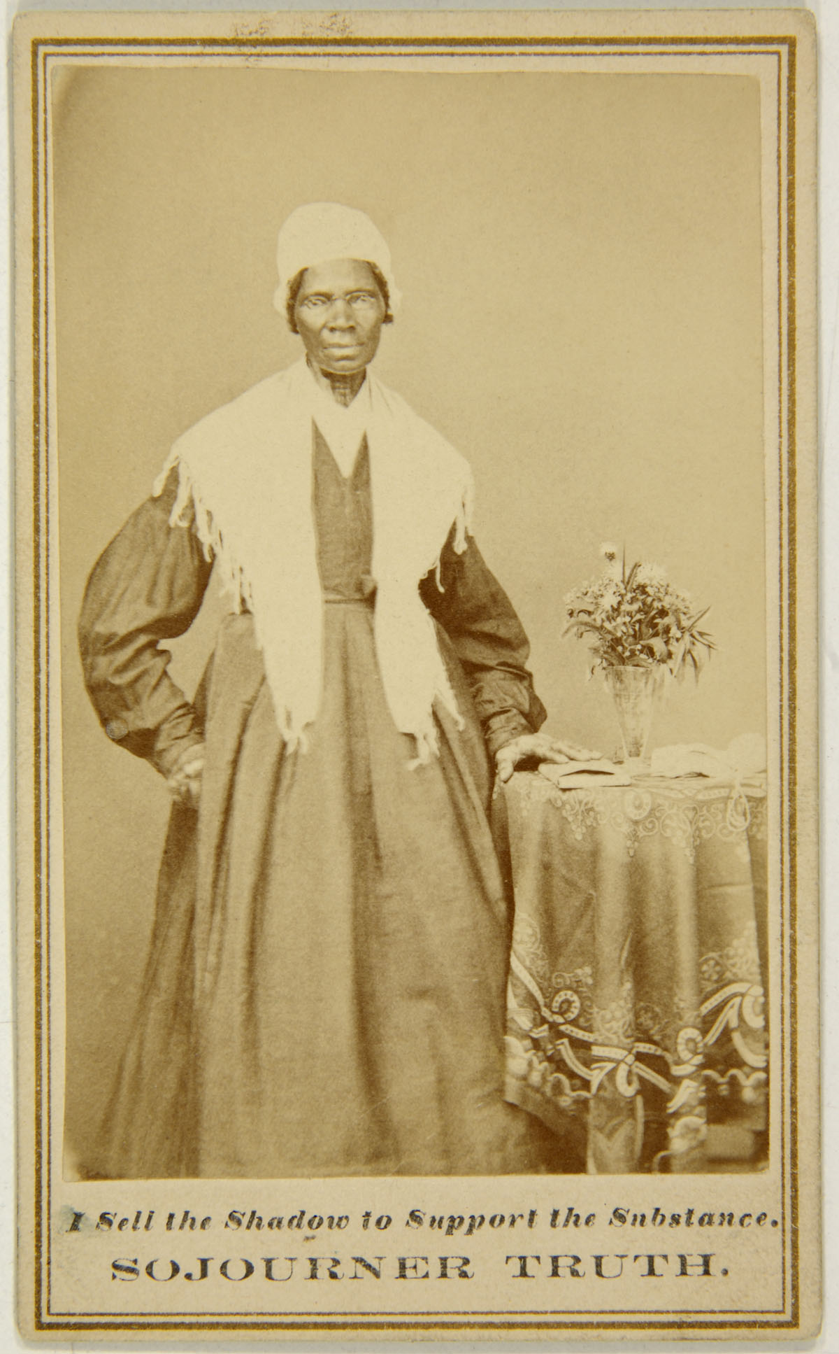Unknown Photographer American Captioned Carte De Visite Of Sojourner Truth C