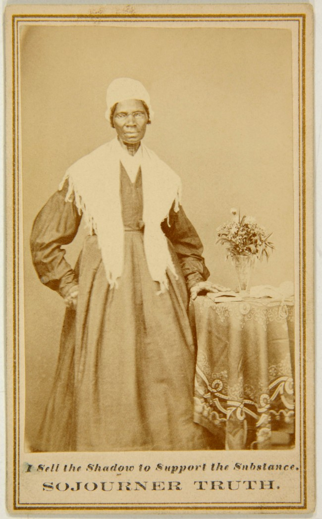 Unknown photographer (American) 'Captioned carte de visite of Sojourner Truth' c. 1864-65
