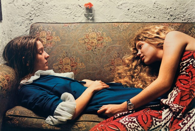 William Eggleston. 'Untitled, 1974' (Karen Chatham, left, with the artist's cousin Lesa Aldridge, in Memphis, Tennessee)