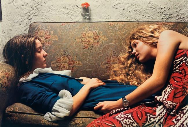William Eggleston. 'Untitled, 1974' (Karen Chatham, left, with the artist's cousin Lesa Aldridge, in Memphis, Tennessee)