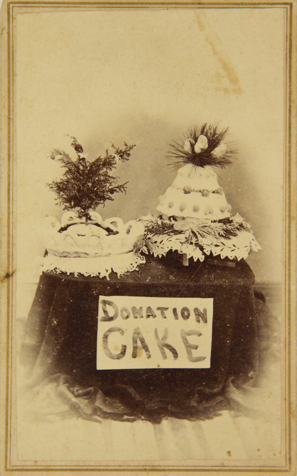 Unknown Photographer American Carte De Visite Donation Cake Late