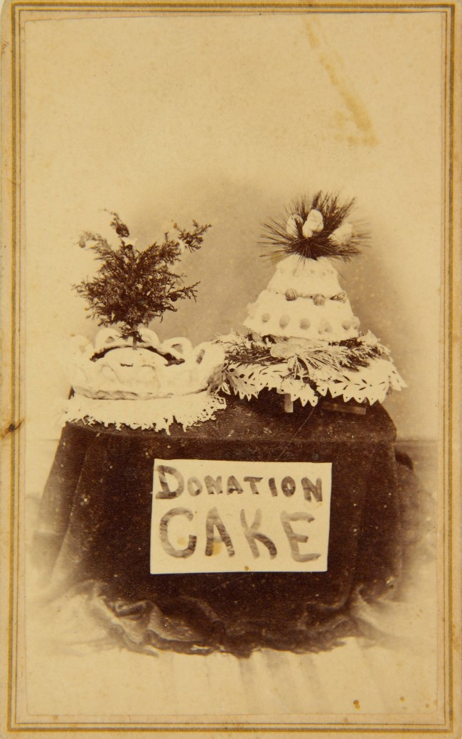 Unknown photographer (American) 'Carte de visite (Donation Cake)' late-19th century