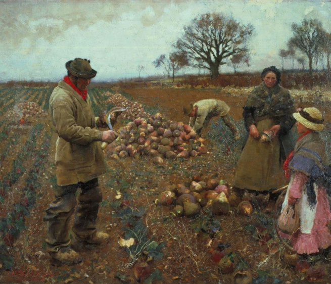 Sir George Clausen. 'Winter Work' 1883-4