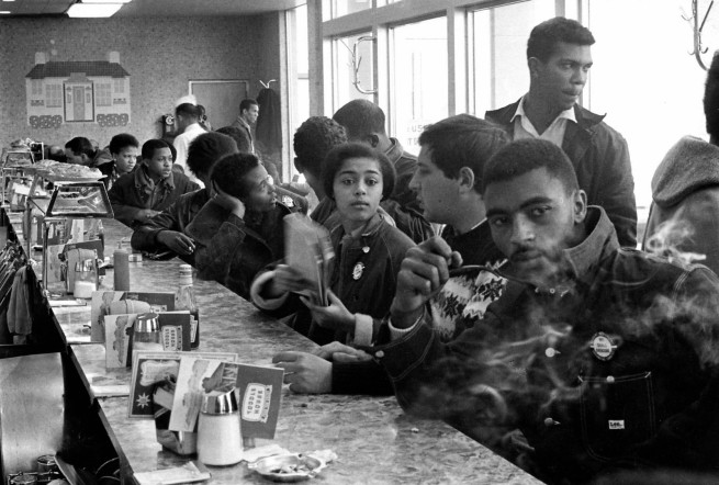 Danny Lyon. 'Student Nonviolent Coordinating Committee (SNCC) Sit-In, Atlanta' 1963