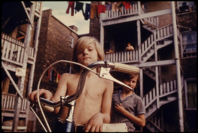 Danny Lyon. 'Two youths in Uptown, Chicago, Illinois, a neighborhood of poor white southerners' 1974