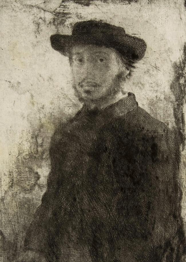 Edgar Degas. 'Edgar Degas: Self-portrait' (third of four states) 1857