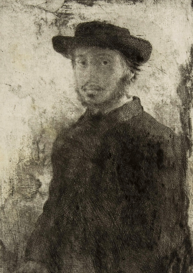 Edgar Degas. 'Edgar Degas: Self-portrait' (third of four states) 1857