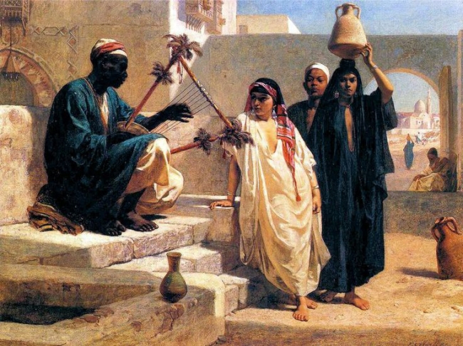 Frederick Goodall, R.A. 'The Song of the Nubian Slave' 1863