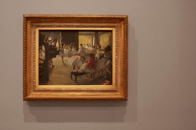 Edgar Degas. 'The dance class' c. 1873 (installation view)