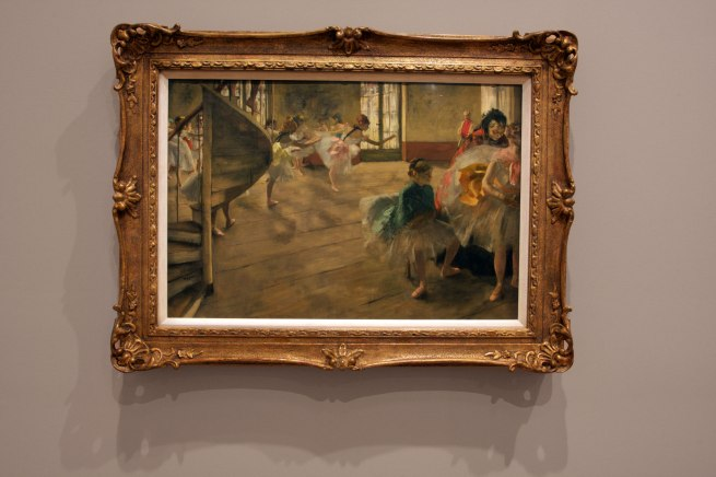 Edgar Degas. 'The rehearsal' c. 1874 (installation view)