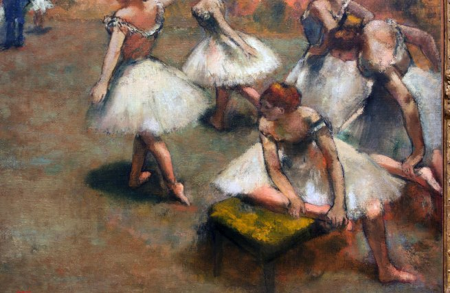 Edgar Degas. 'Dancers on the stage' (detail) c. 1899