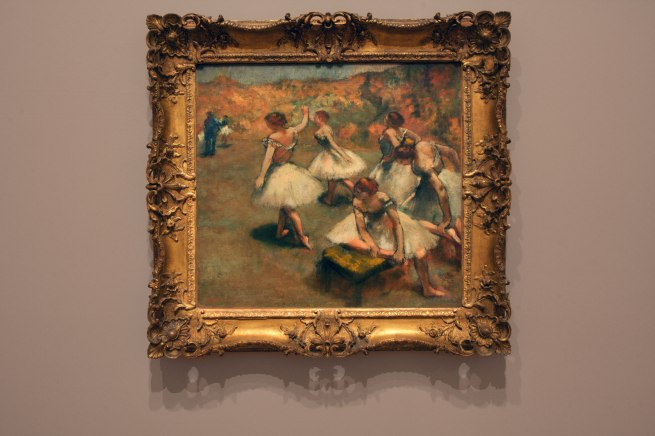 Edgar Degas. 'Dancers on the stage' c. 1899 (installation view)