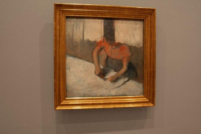 Edgar Degas. 'The laundress ironing' c. 1882-86 (installation view)