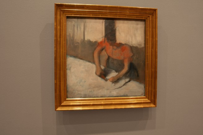 Edgar Degas. 'The laundress ironing' c. 1882-86 (installation view)