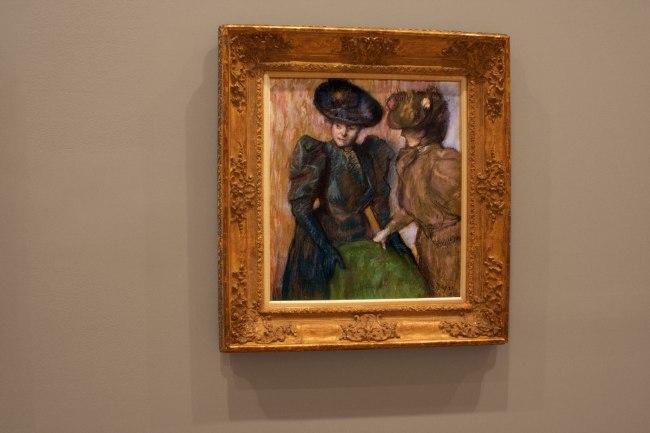 Edgar Degas. 'The Conversation' 1895 (installation view)