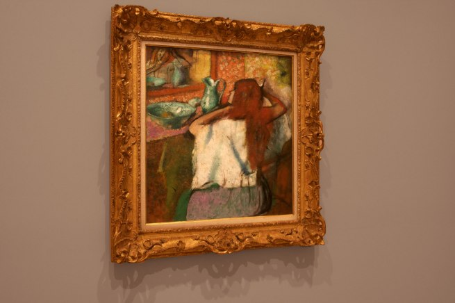 Edgar Degas. 'Femme a la toilette [Woman at he toilette] c. 1895-1900 (installation view)