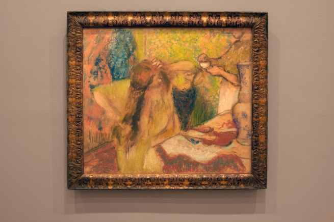 Edgar Degas. 'Femme a la toilette [Woman at her toilette] c. 1894 (installation view)