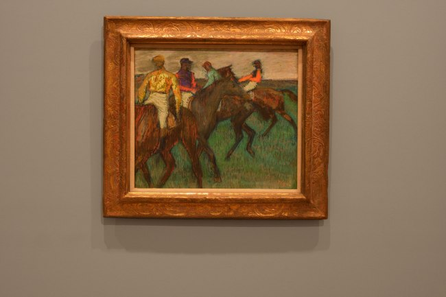 Edgar Degas. 'Chevaux de courses [Racehorses]' c. 1895-99 (installation view)