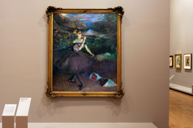 Edgar Degas. 'Dancer with bouquets' c. 1895-1900 (installation view)
