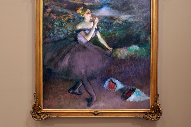 Edgar Degas. 'Dancer with bouquets' c. 1895-1900 (installation view detail)