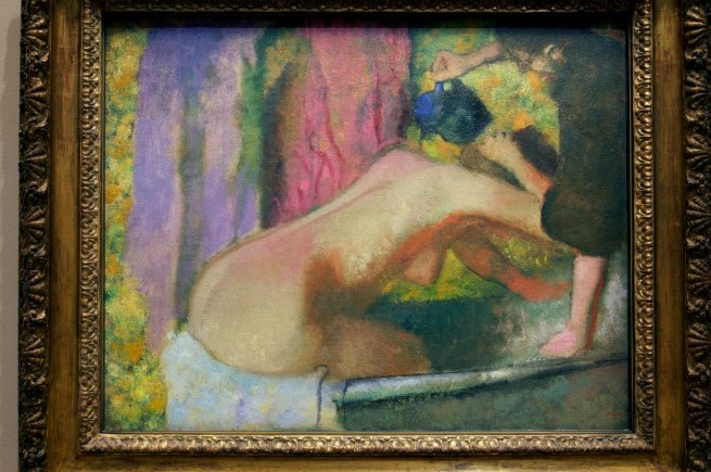 Edgar Degas. 'Woman at her bath' c. 1895 (installation view)