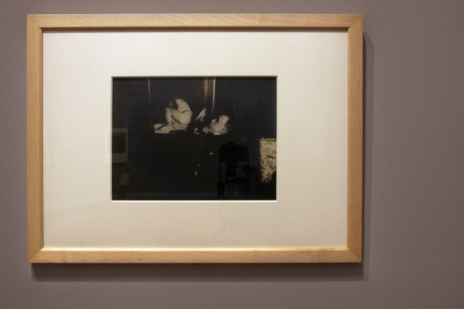 Edgar Degas. 'Self-portrait with Bartholome's Weeping girl' probably Autumn 1895 (installation view)