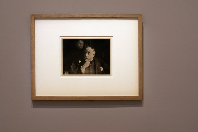 Edgar Degas. 'Self-portrait with Zoé Closier' probably Autumn 1895 (installation view)