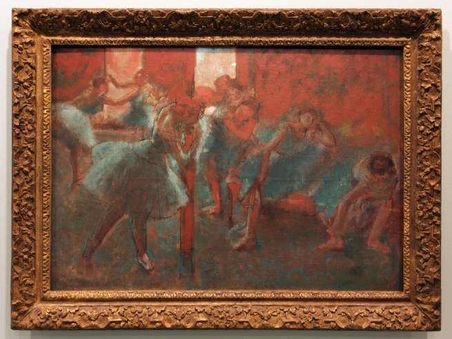 Edgar Degas. 'Dancers at a rehearsal' c. 1895-98 (installation view)