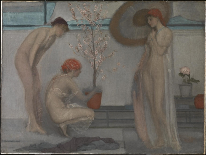 James Abbott McNeill Whistler. 'Three Figures Pink and Grey' 1868-78