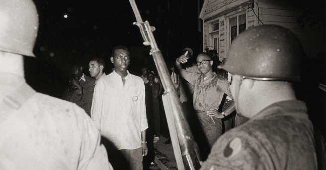 Danny Lyon. 'Stokely Carmichael, Confrontation with National Guard, Cambridge, Maryland' 1964