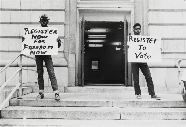 Danny Lyon. 'Voting Rights Demonstration, Organized by the Student Nonviolent Coordinating Committee (SNCC), Selma, Alabama' October 7, 1963