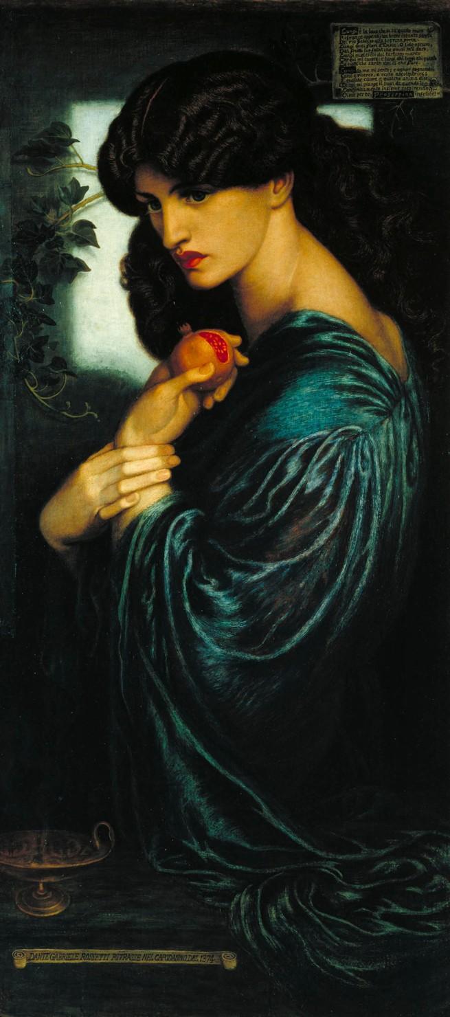 Dante Gabriel Rossetti. 'Proserpine' 1874