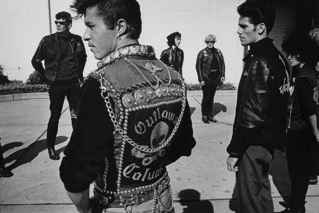 Danny Lyon. 'Renegade's funeral, Detroit' 1966