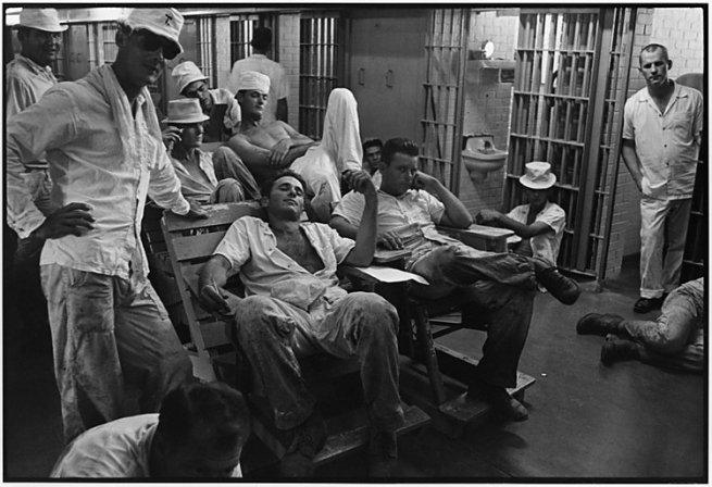 Danny Lyon. 'Six-Wing Cell Block, Ramsey Unit, Texas' 1968