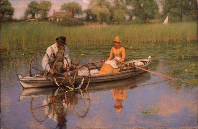 Thomas Frederick Goodall (1856-1944) 'The Bow Net' 1886