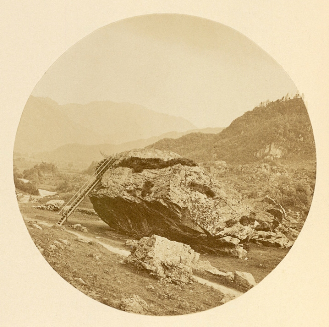 Thomas Ogle. 'The Bowder Stone in Our English Lakes, Mountains and Waterfalls as seen by William Wordsworth by A.W. Bennett' Published 1864