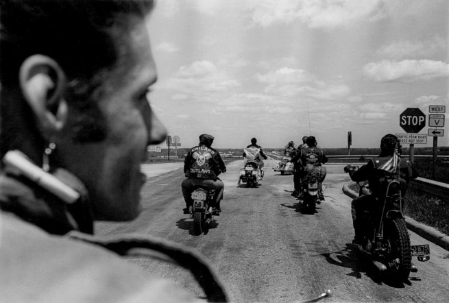 Danny Lyon. 'Untitled (Close Up of Cal on the Road)' 1966