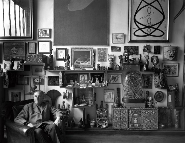 Sabine Weiss. 'André Breton chez lui, 42, rue Fontaine' Paris, 1956