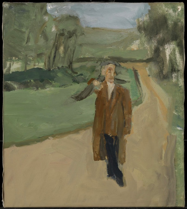Michael Andrews (1928-1995) 'Study for a Man in a Landscape (Digswell)' 1959